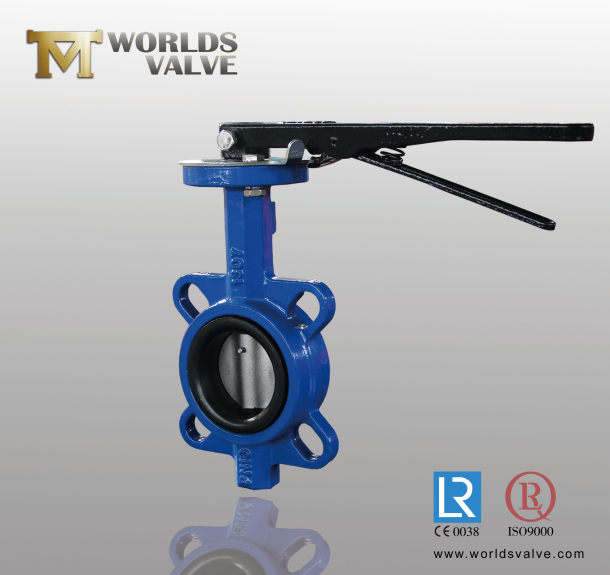 Lever Butterfly Valve : Handle wafer butterfly valve with holeless china